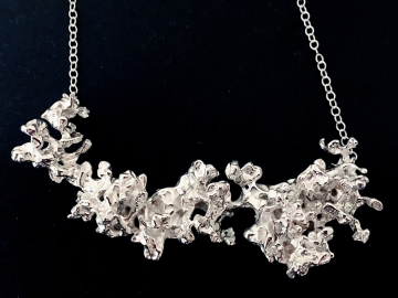 Sterling Silver Salt Cast Necklace