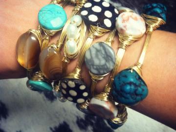 Wire Wrapped Bangle Bracelets