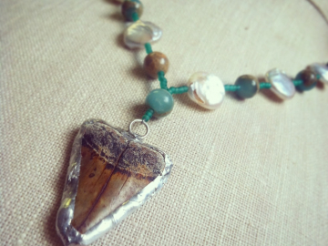 Soldered Shark tooth necklace