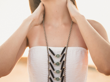 Boho Breast Plate Necklace
